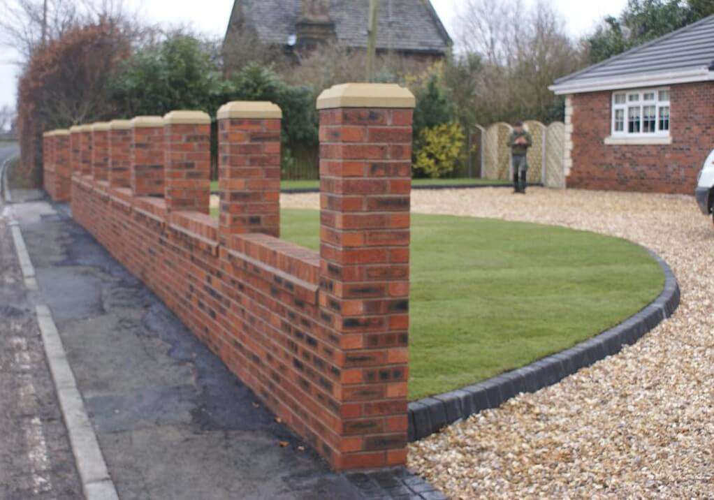 Brickwork abel landscaping for Designs for brick garden walls