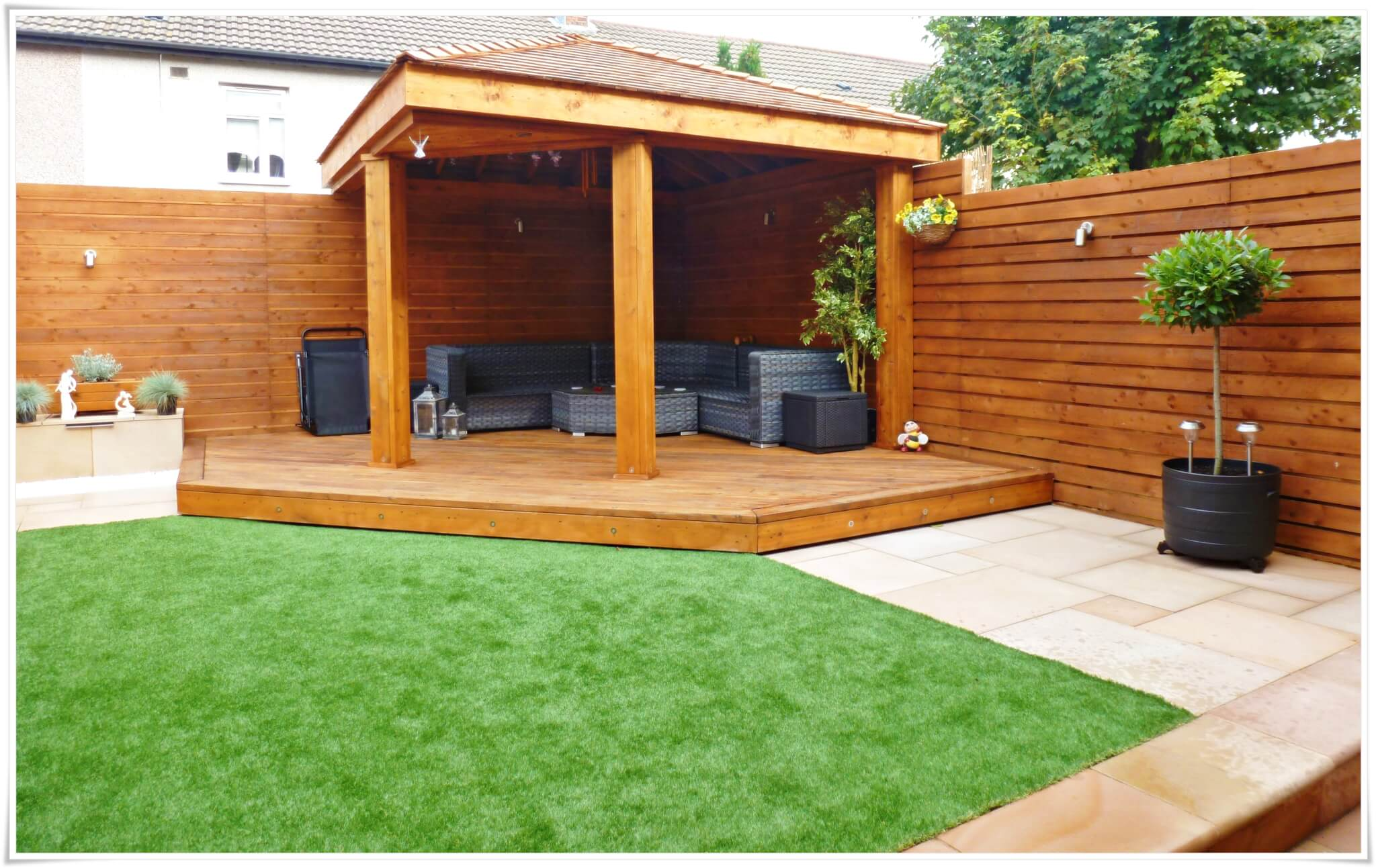 Garden makeover with garden room bootle sefton abel for Garden makeover