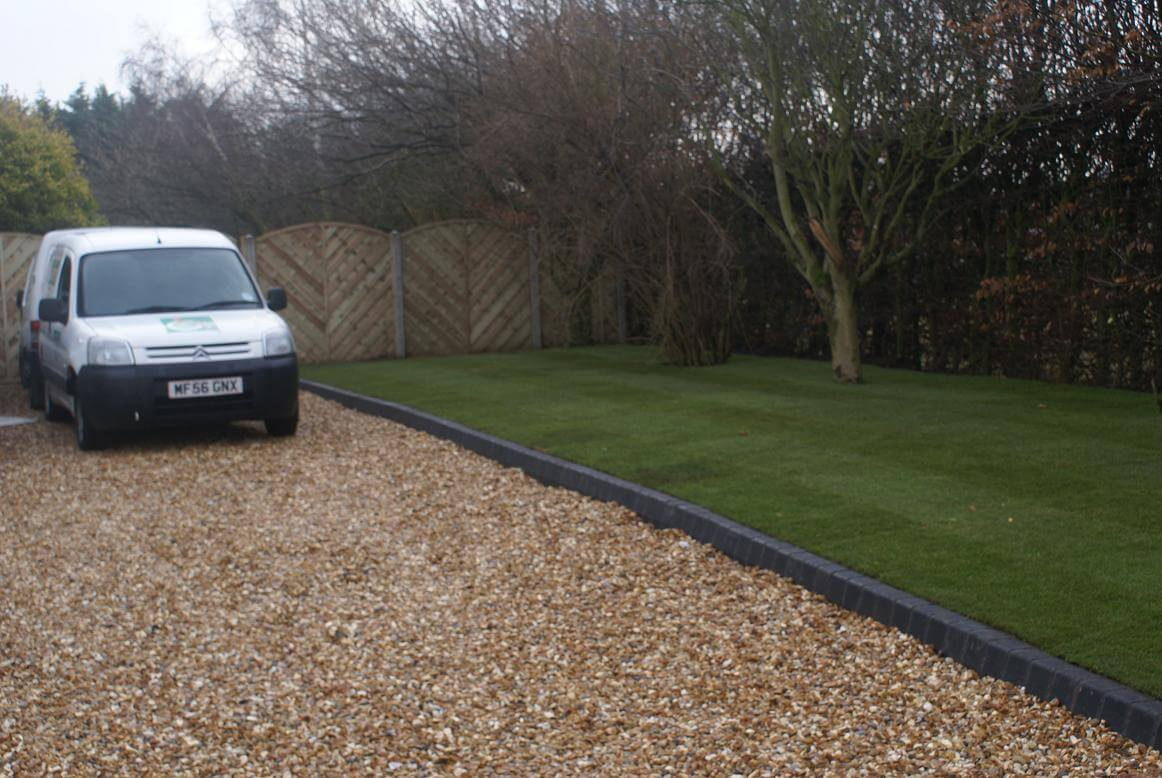 Gravel Driveway With Kerb Edgings And Steps Knowsley