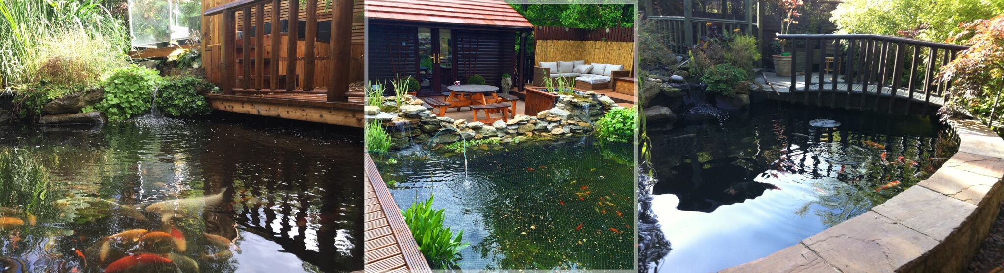Water features abel landscaping for Koi ponds uk