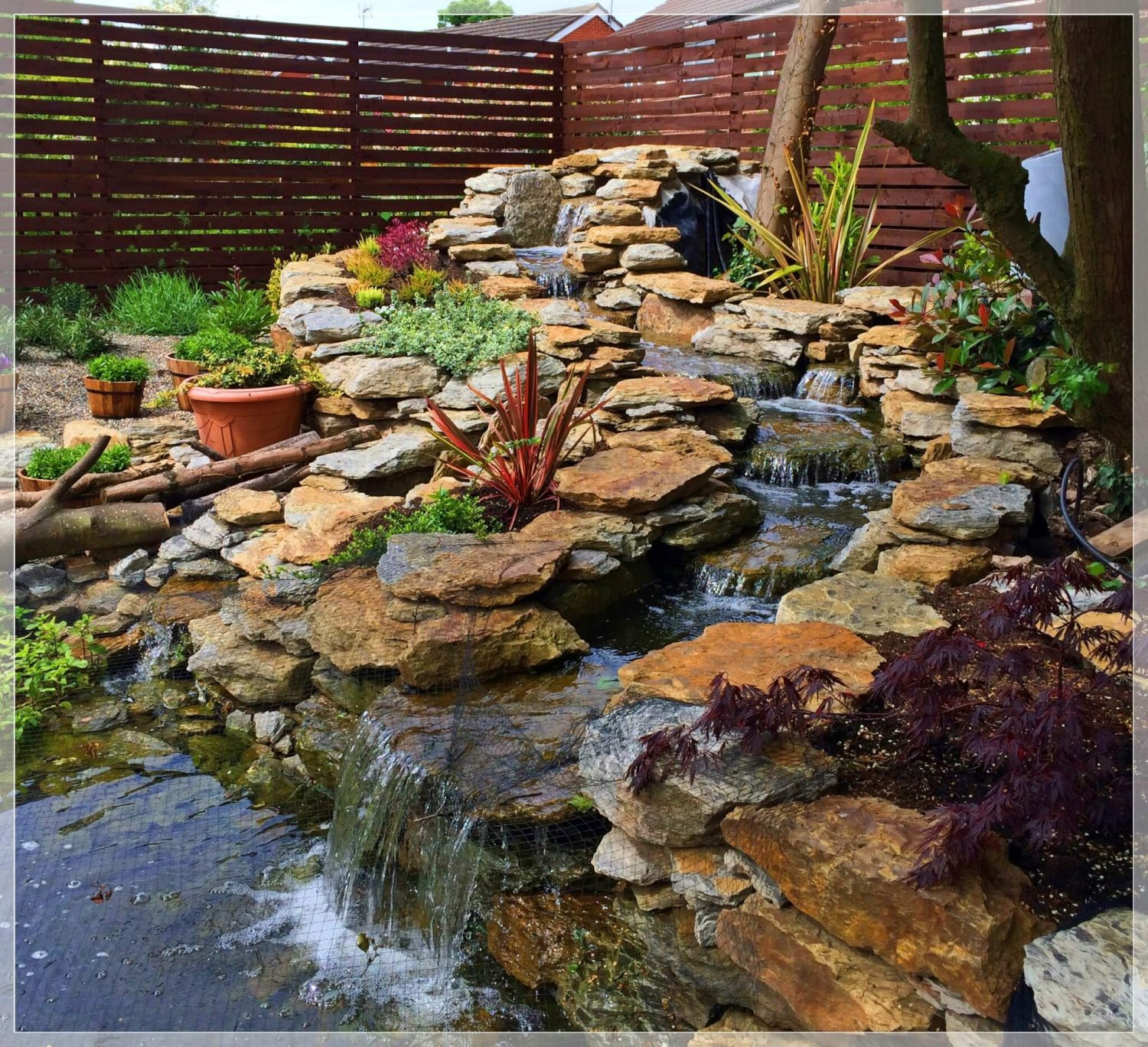Water features abel landscaping for Pond features