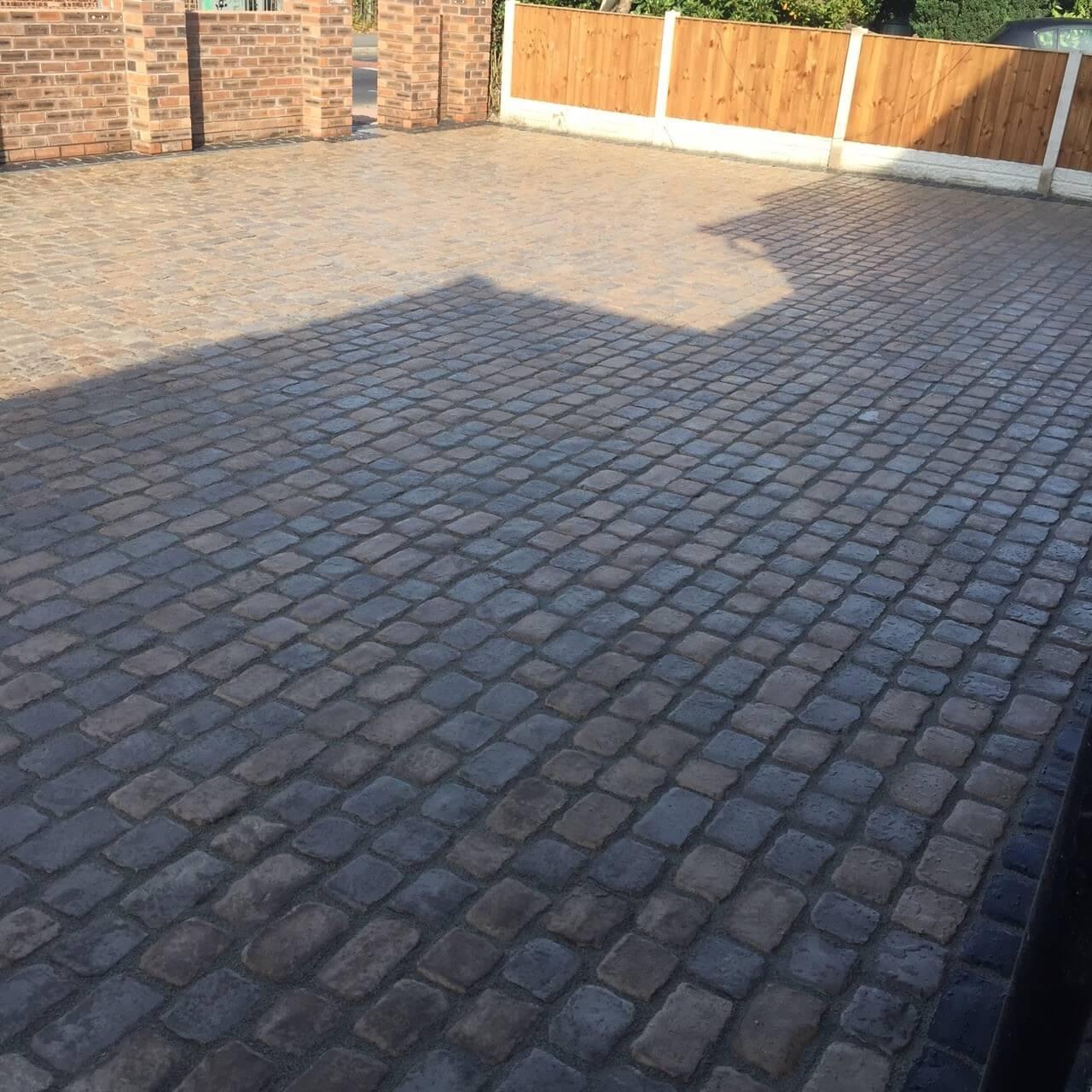marshalls drivesys original cobble block paving driveway. Black Bedroom Furniture Sets. Home Design Ideas