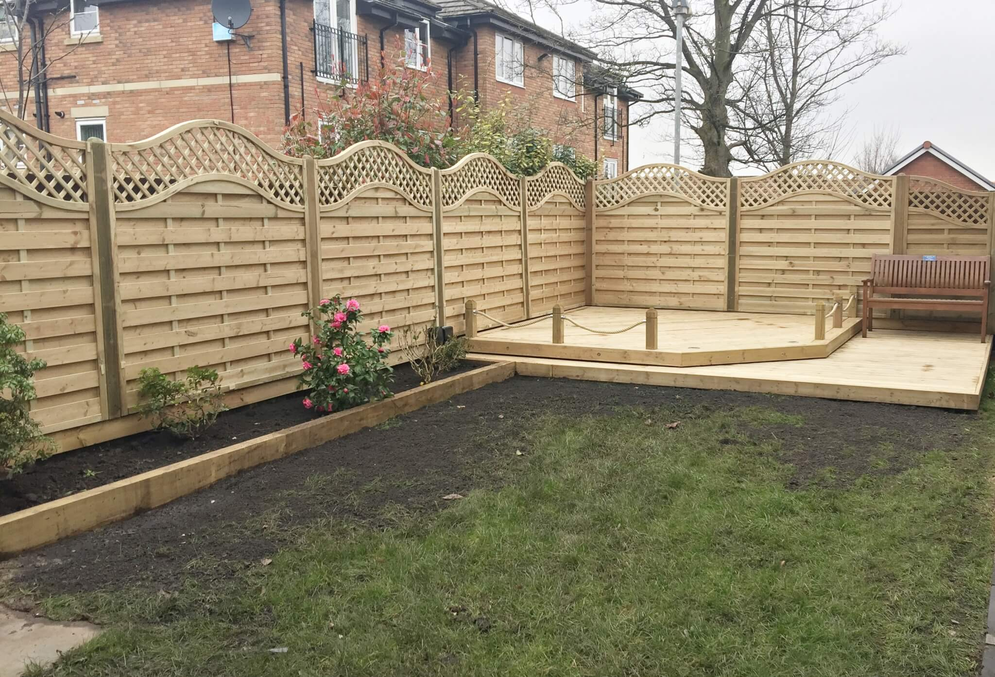 European Garden Omega Lattice Top Fence Panels Ormskirk Lancashire ...