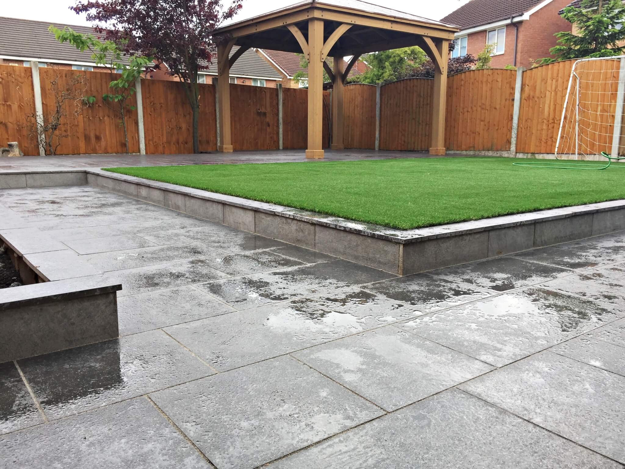 marshalls symphony vitrified paving patio artificial grass
